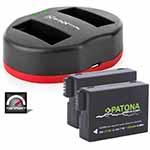 Baxxtar USB Dual Ladegerät  2x Patona Akku