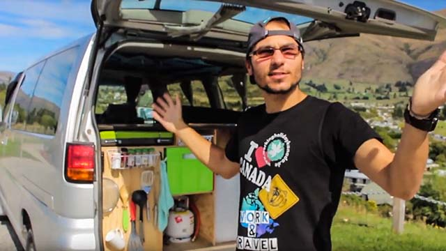 3. Camper Van (Nissan El Grand)