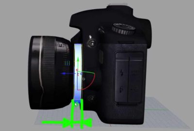 Distance with FD Adapter to EOS Camera Body