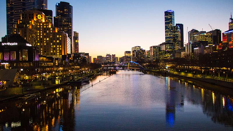 Melbourne Yarra River and South Bank by Daniel Kovacs