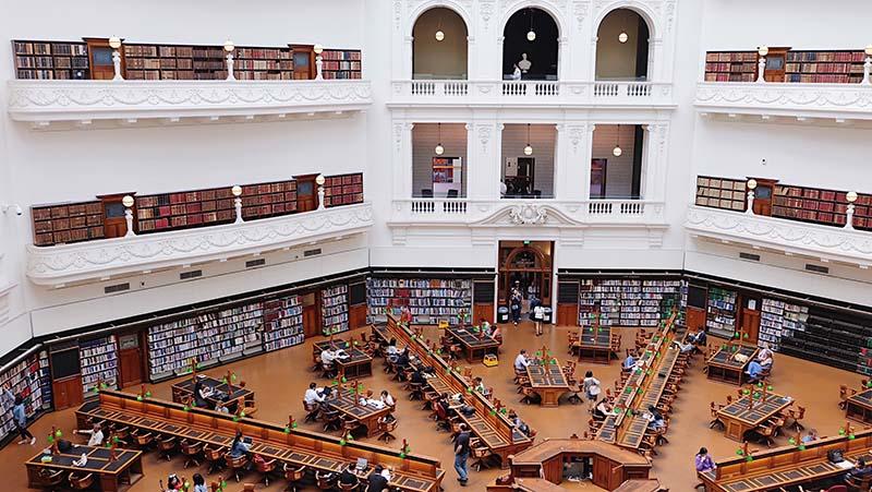 State Library Victoria in Melbourne by Geraldine Lewa