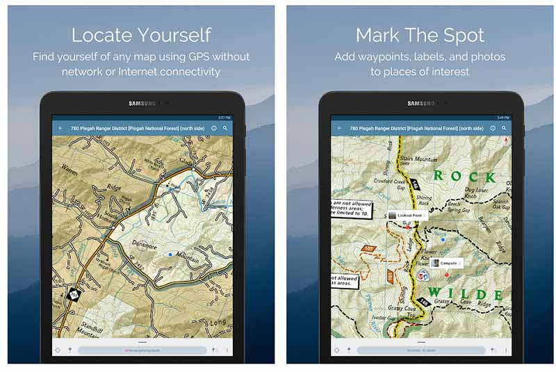 Avenza Maps is a good card viewer for your next outdoor activity