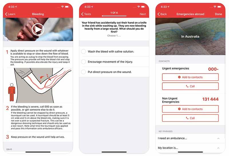 Dein nützlicher Helfer für die Hosentasche, die Erste Hilfe App