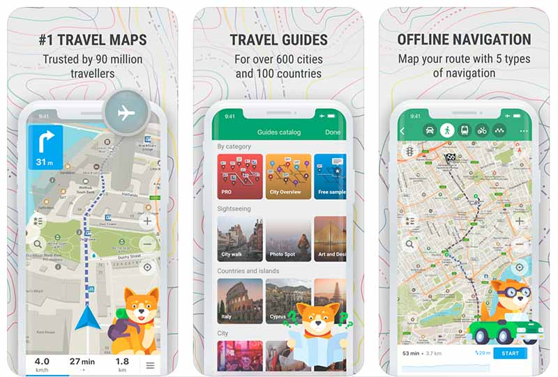 Find free travel maps and travel guides on maps.me