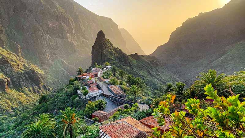 Teneriffa Masca das Dorf in den Bergen