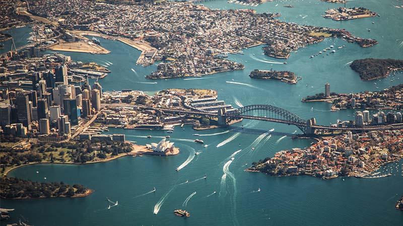 Work and Travel Australien - Sydney von oben