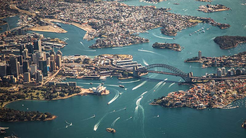Working Holiday Australia - Sydney from above