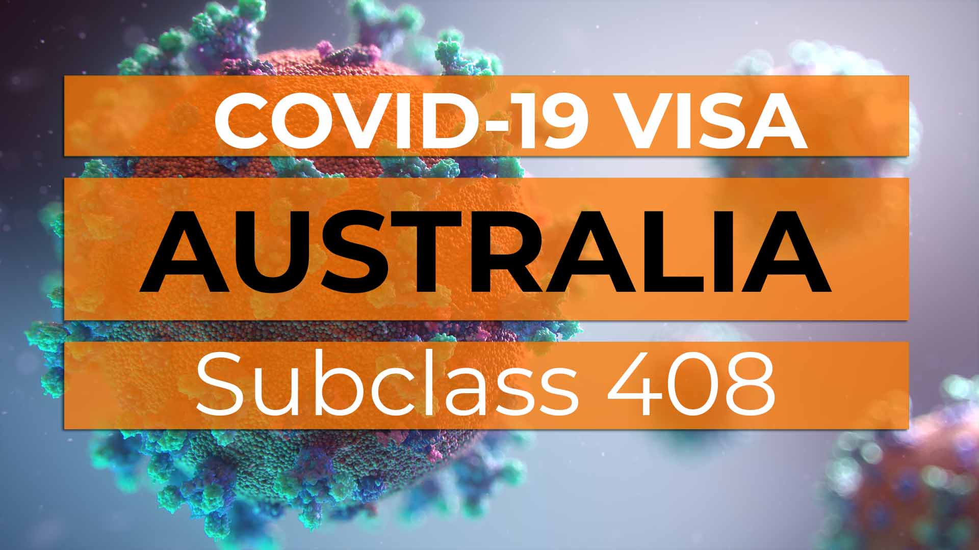 Australia COVID-19 Visa Subclass 408 - Cover