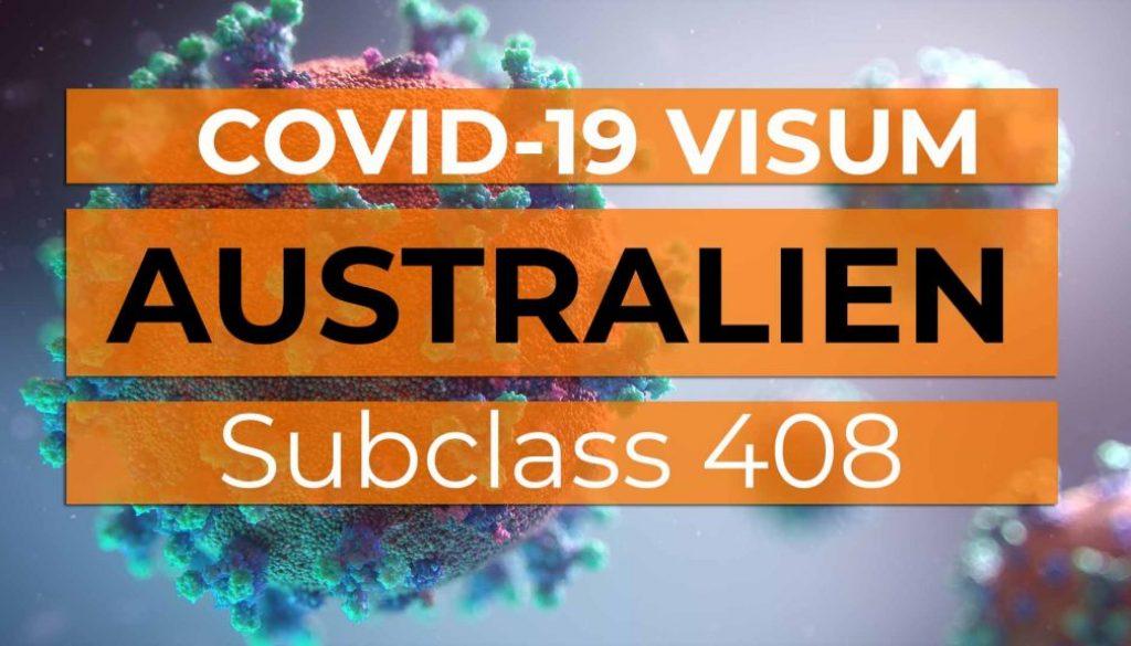 Australien COVID-19 Visum Subclass 408 - Cover