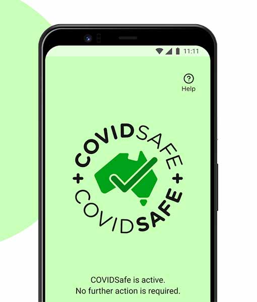 CovidSafe App in Australia looks like this