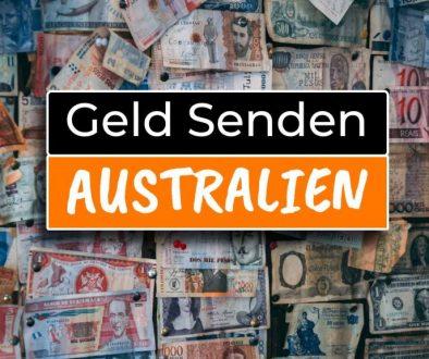 Geld von Australien nach Deutschland senden - Cover