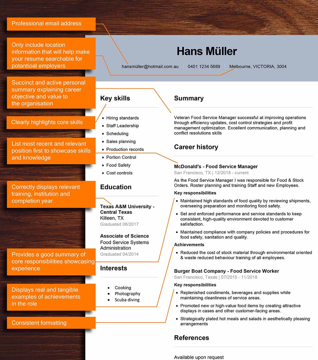 Australia Resume the good and the bad - the good resume with notes_1080x1224