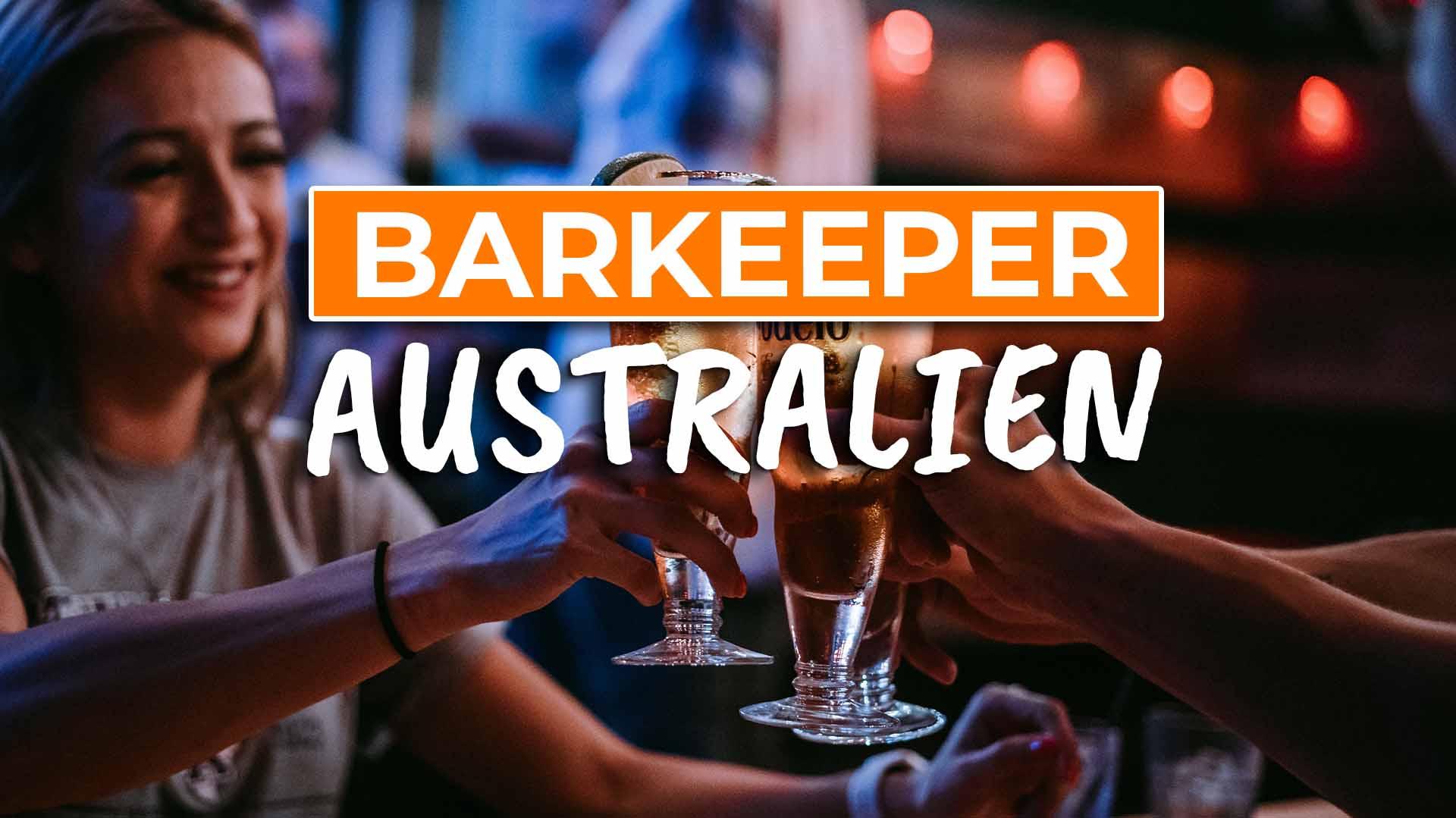Wie bekommst du einen Job als Barkeeper in Australien - Cover
