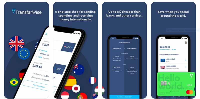 The Transferwise app helps you save money