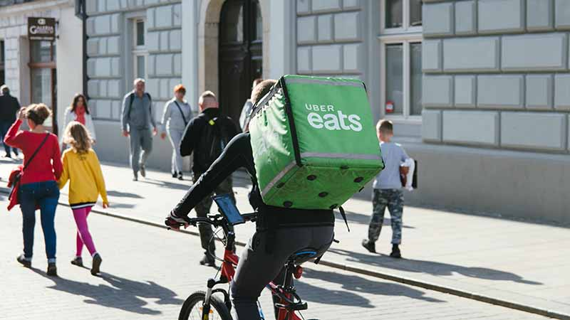 Work as an UberEats delivery driver in Australia
