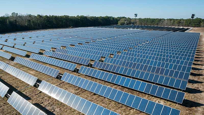 Work on a solar farm in Australia