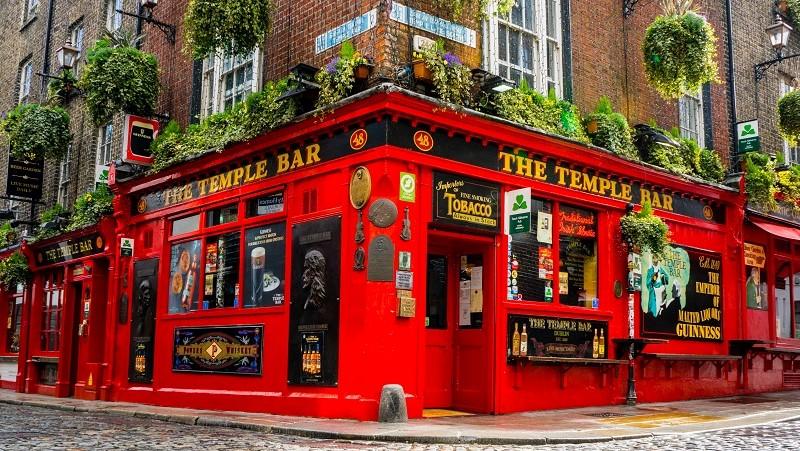Tempel Bar in Dublin Ireland