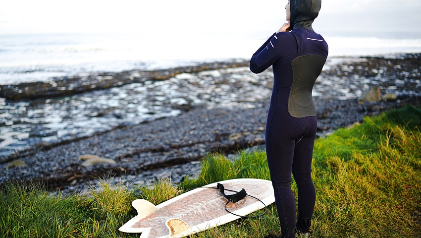 Experience the Atlantic coast of Ireland surfing in Easkey in a different way